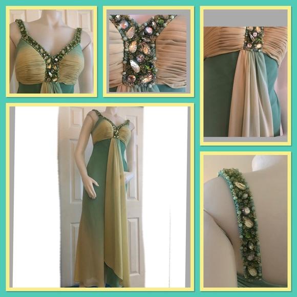 Faviana Dresses & Skirts - Faviana Couture Breaded Dress Prom 4